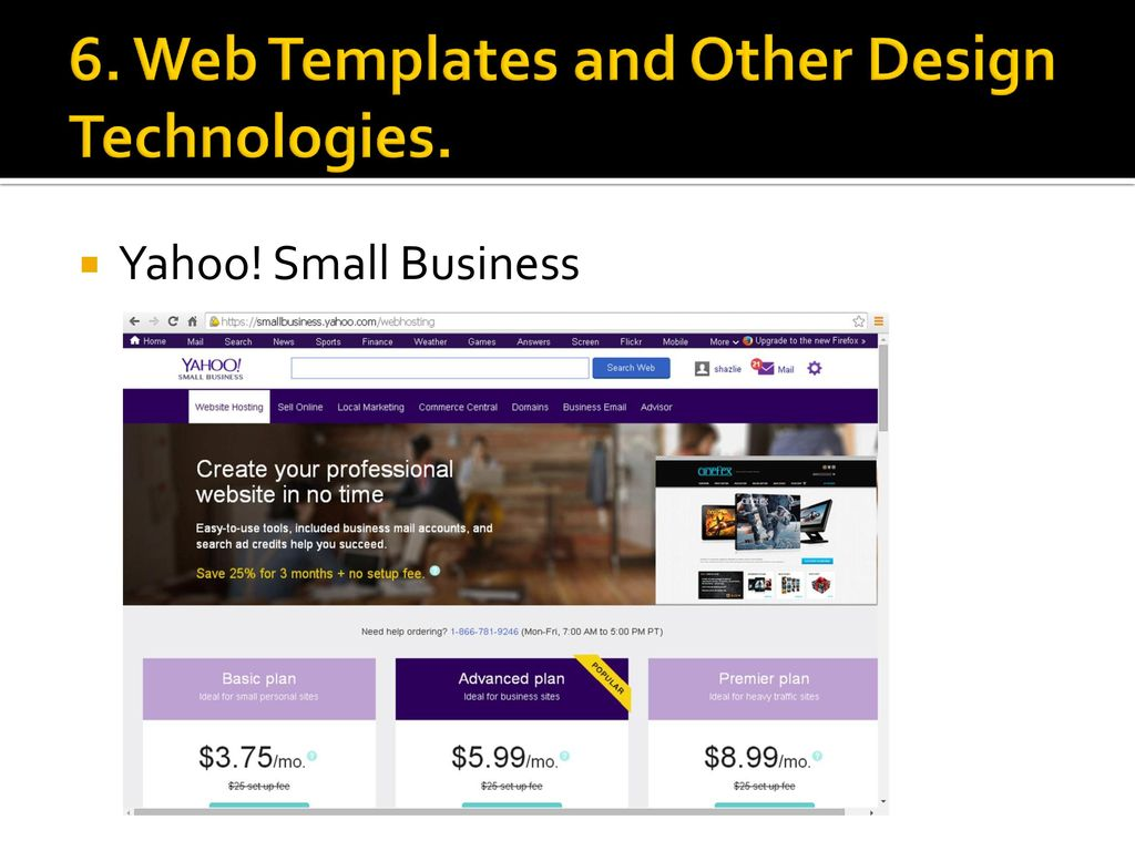 Yahoo small business templates image collections business cards ideas yahoo small business web page design ukindex yahoo small business 6 web templates and other design wajeb Images