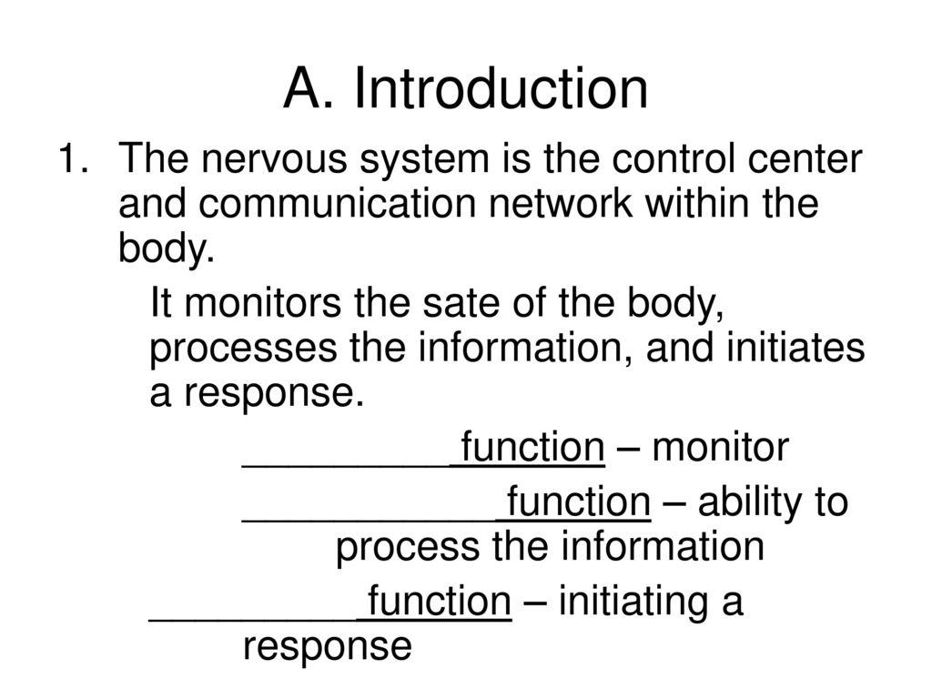 Chapter # 9 Nervous System - ppt download