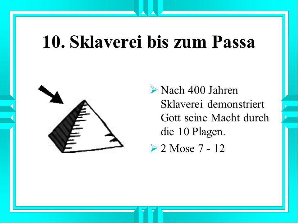 10. Sklaverei bis zum Passa