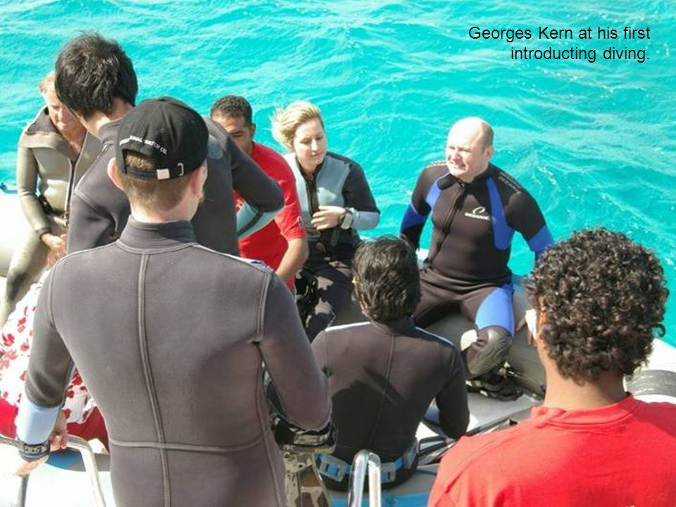 Georges Kern at his first introducting diving.
