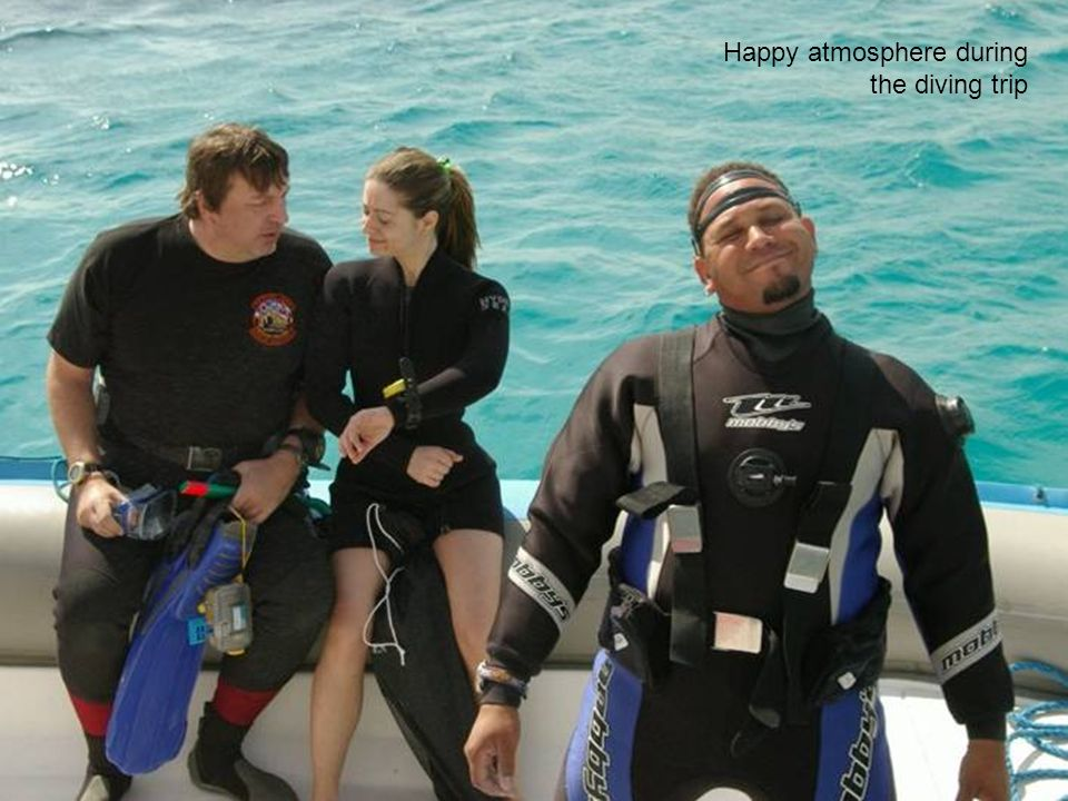 Happy atmosphere during the diving trip