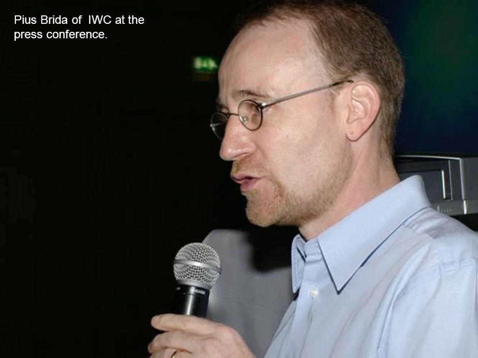 Pius Brida of IWC at the press conference.