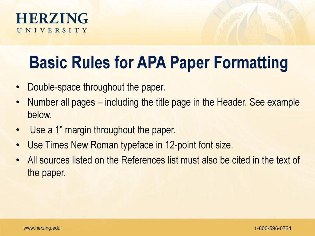 apa paper title page