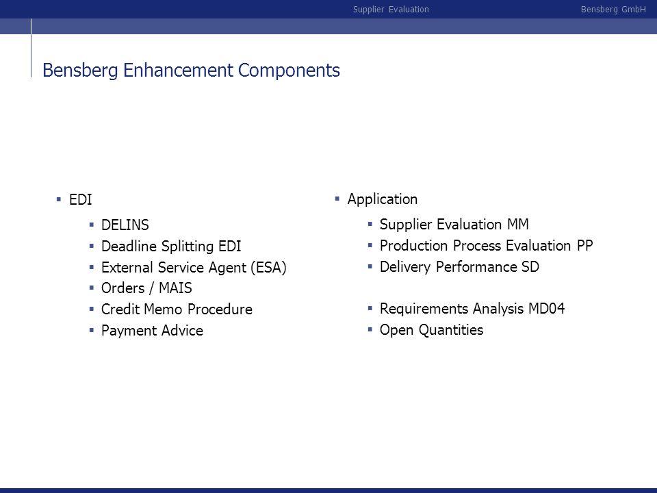 Bensberg Enhancement Components