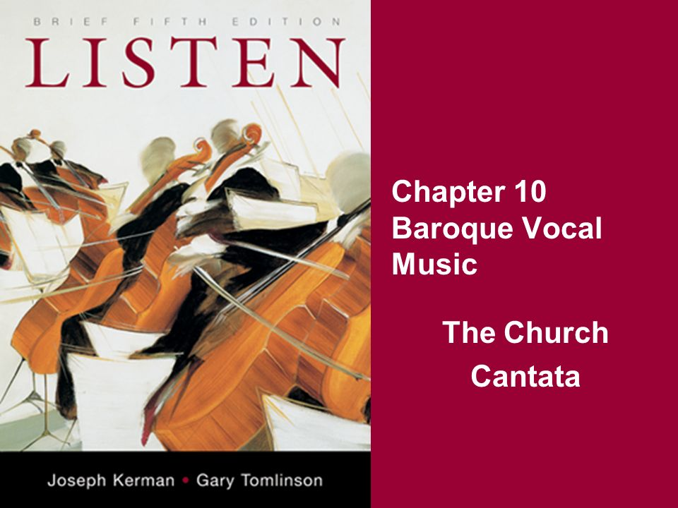 Chapter 10 Baroque Vocal Music