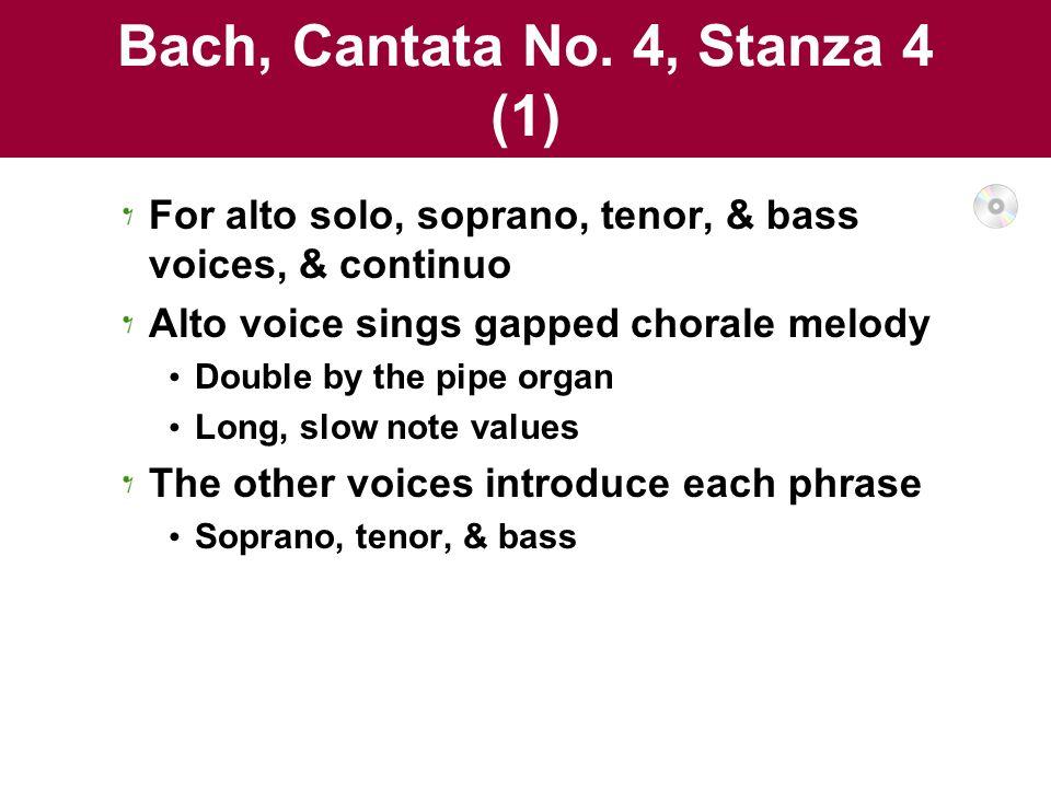 Bach, Cantata No. 4, Stanza 4 (1)