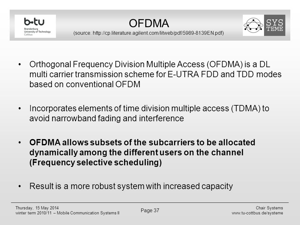 OFDMA (source: http://cp. literature. agilent