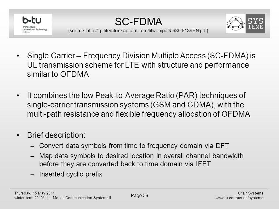 SC-FDMA (source: http://cp. literature. agilent