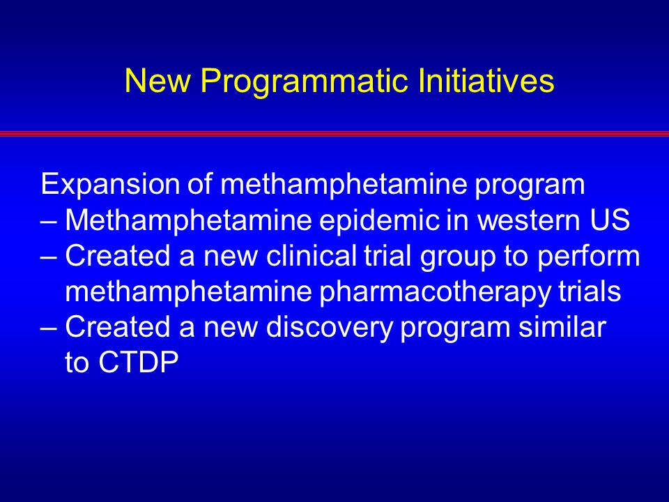 New Programmatic Initiatives