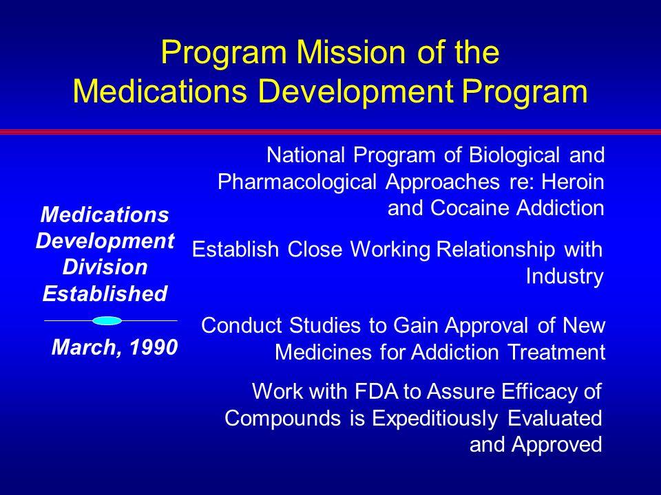 Medications Development Division Established