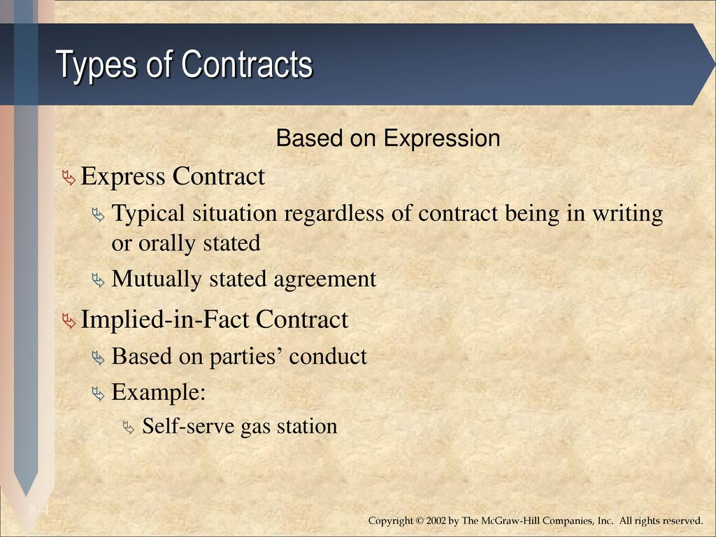 Implied In Fact Contract Example Images Example Cover Letter For