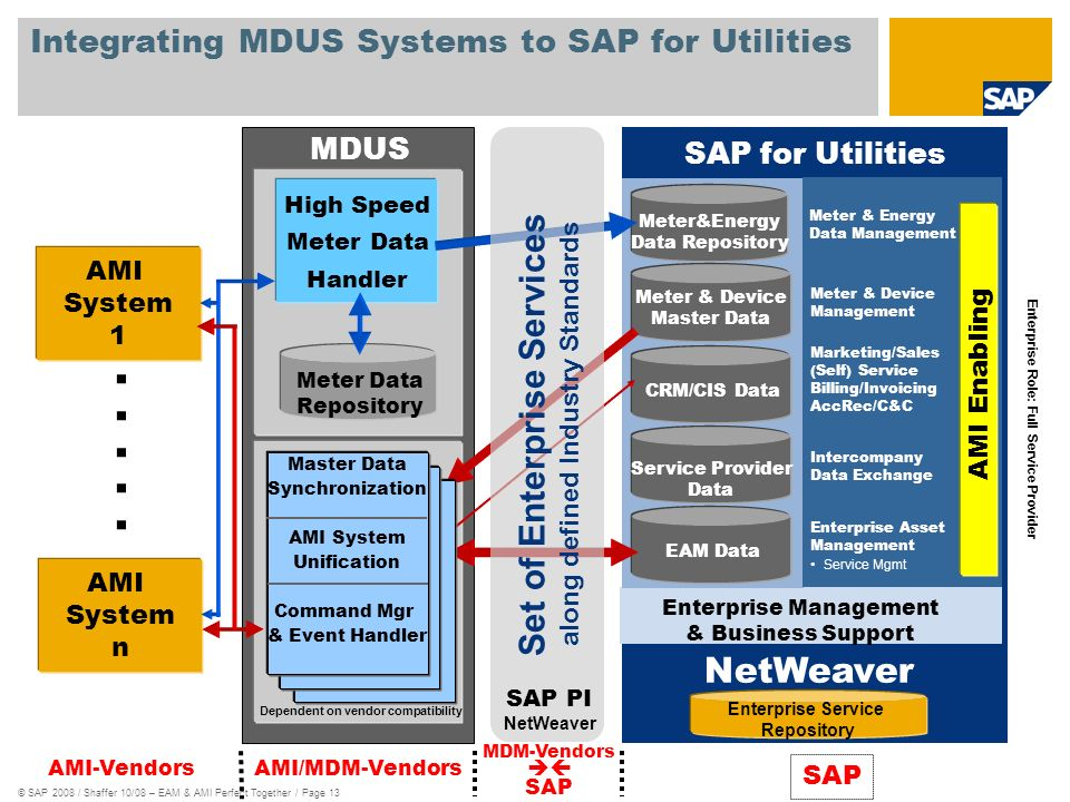 Integrating MDUS Systems to SAP for Utilities