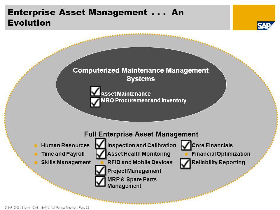 Enterprise Asset Management . . . An Evolution