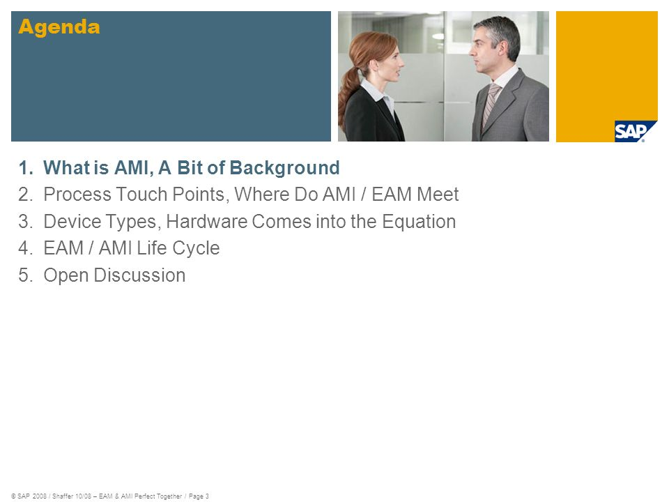 Agenda What is AMI, A Bit of Background