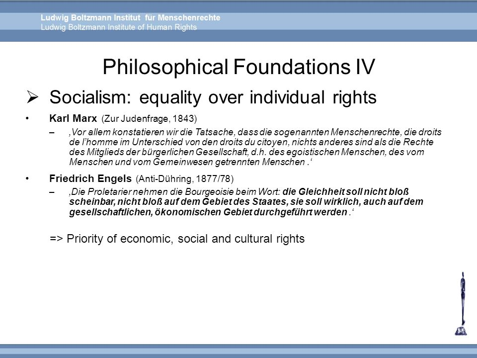 Philosophical Foundations IV