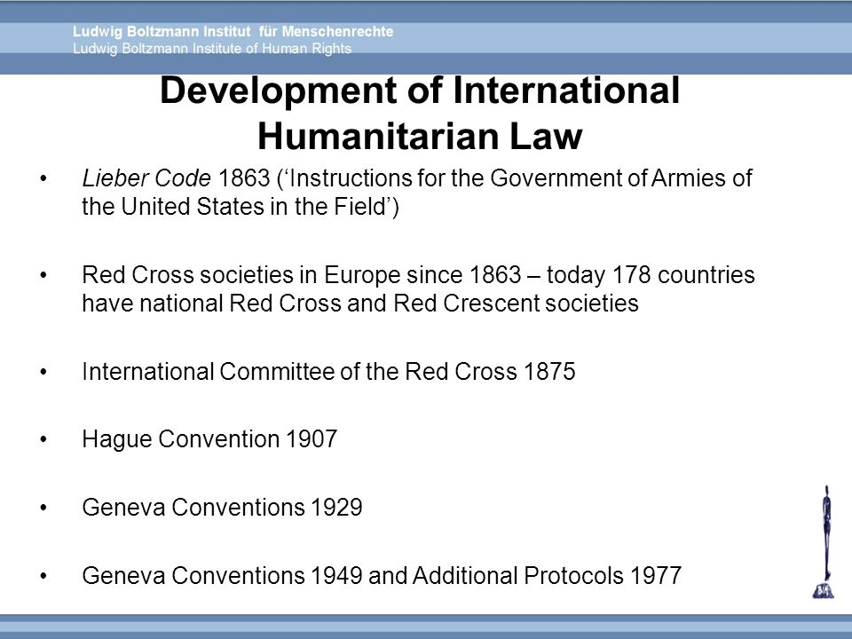 Development of International Humanitarian Law