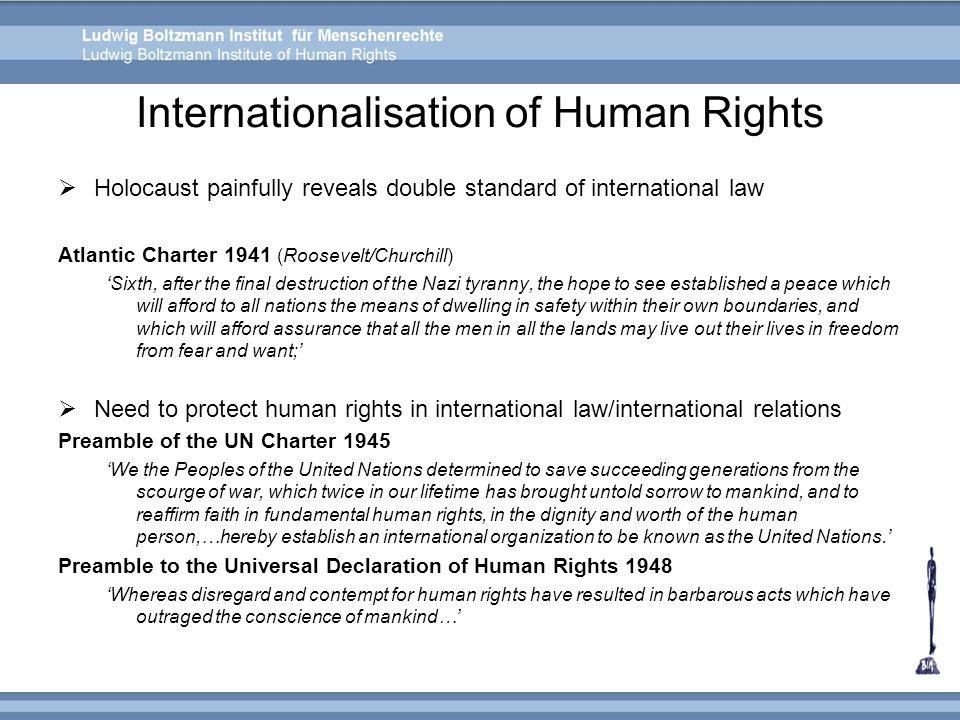 Internationalisation of Human Rights