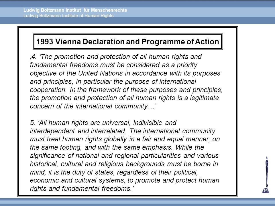 1993 Vienna Declaration and Programme of Action