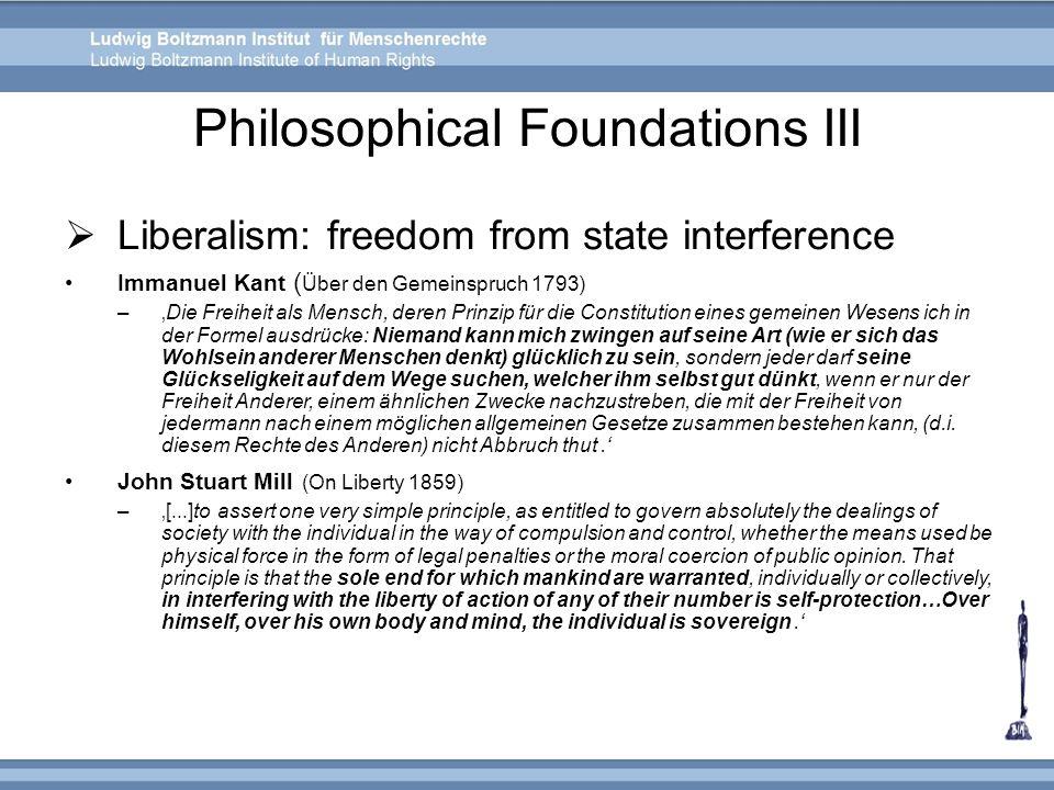 Philosophical Foundations III