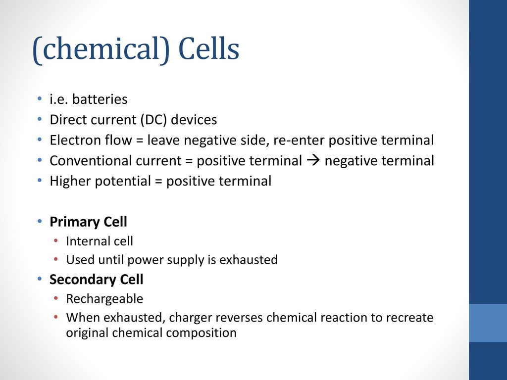 Electric Cells Section 5.3 (p. 217 – 226). - ppt download