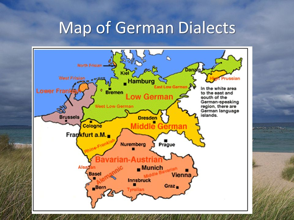 Map of German Dialects