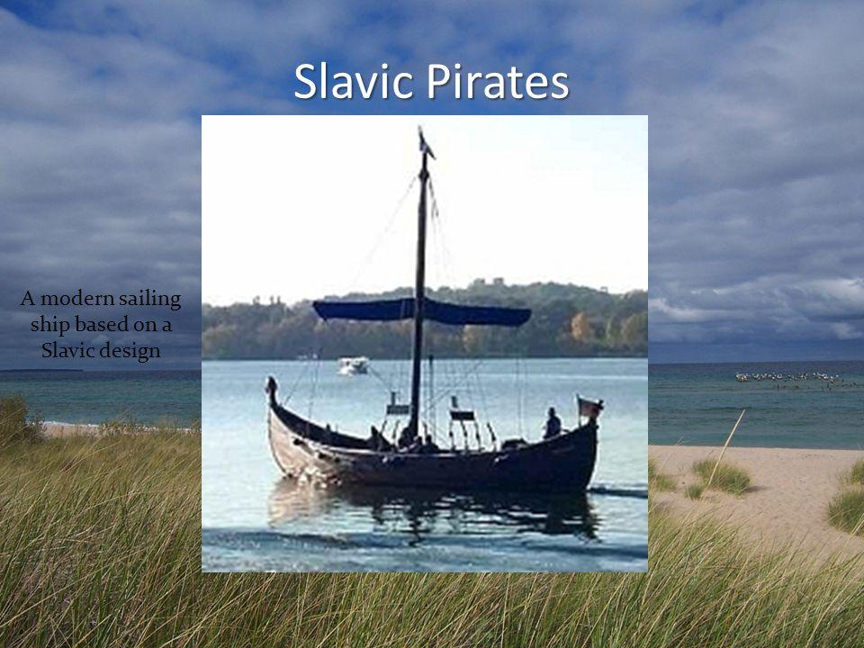 A modern sailing ship based on a Slavic design