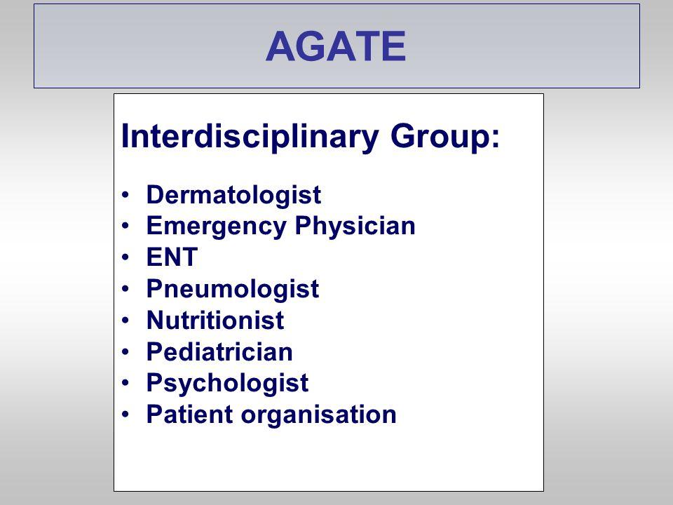 AGATE Interdisciplinary Group: Dermatologist Emergency Physician ENT