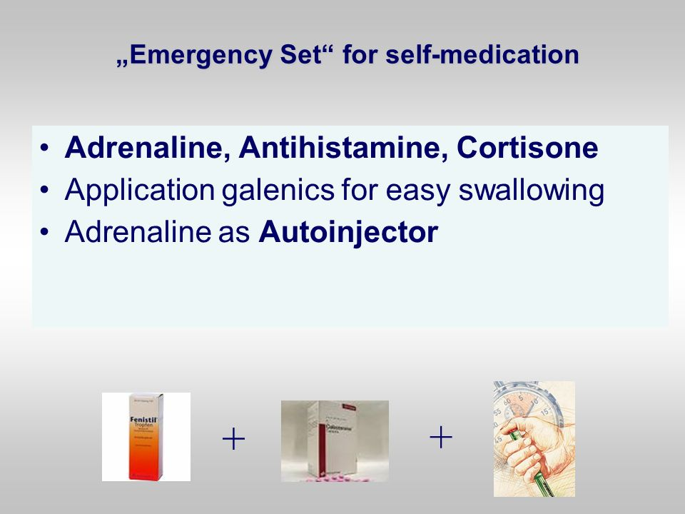 """""""Emergency Set for self-medication"""