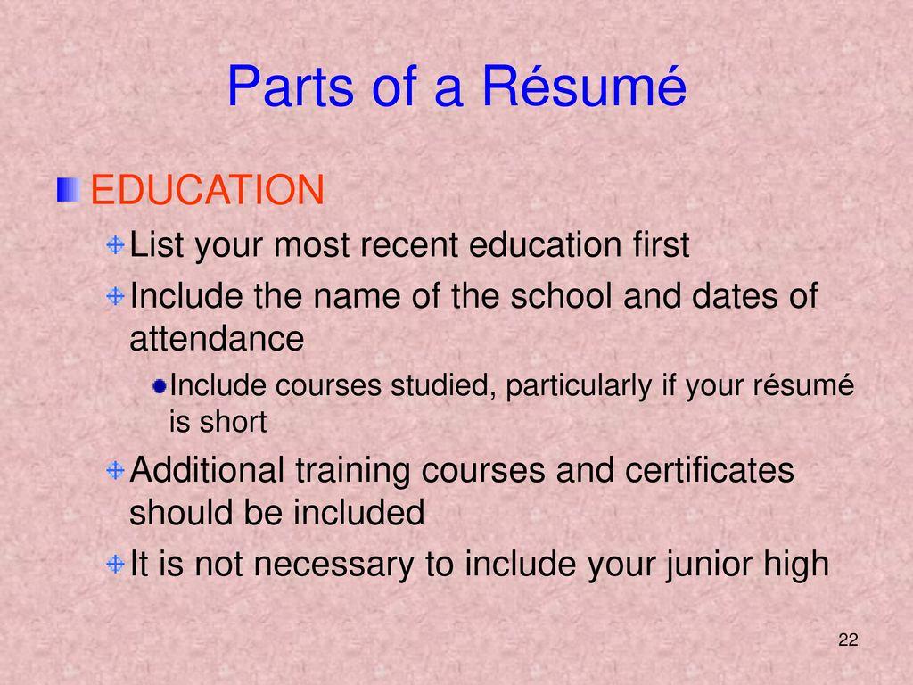 Preparing A Resume Preparing A Resume Ppt Download