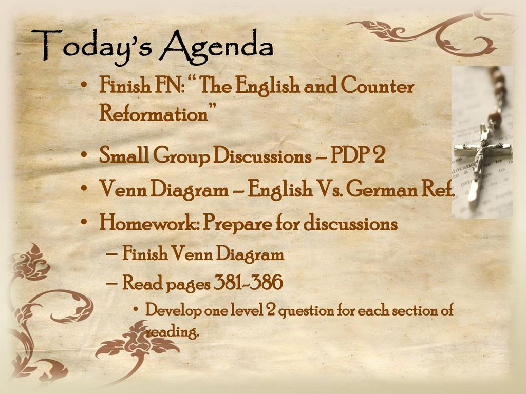 Wednesday sept 17 take your seat take out your notebook ppt download todays agenda finish fn the english and counter reformation ccuart Choice Image