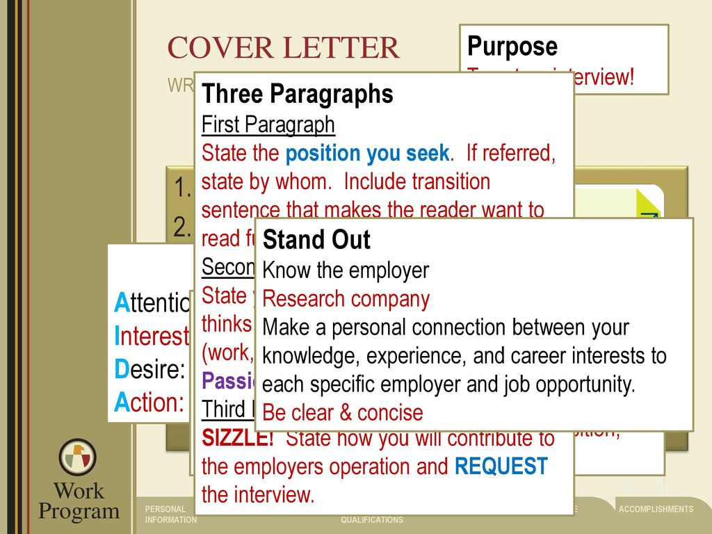 aida cover letter