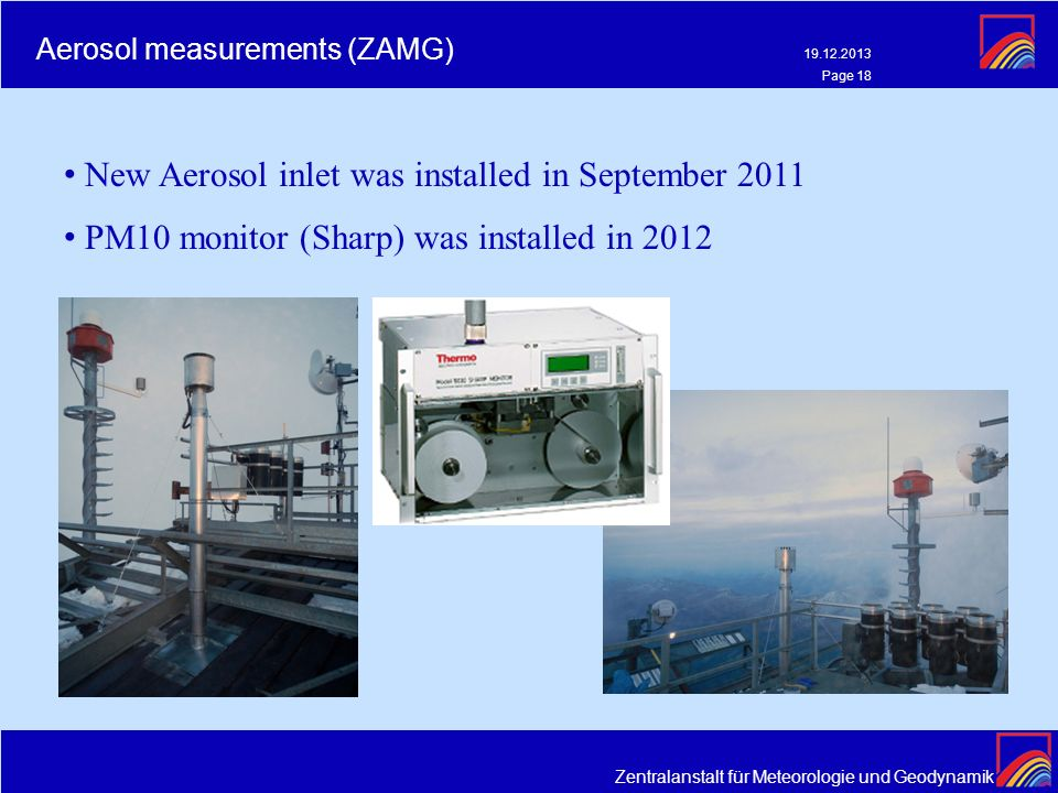 Aerosol measurements (ZAMG)