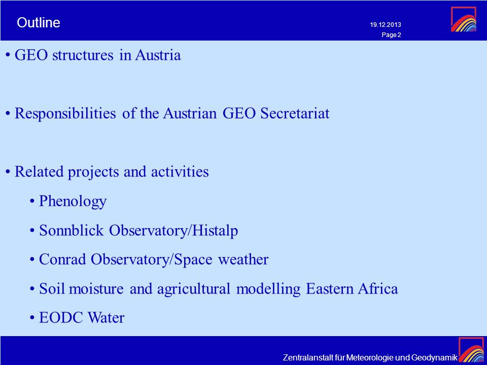 GEO structures in Austria