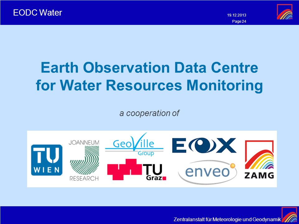 Earth Observation Data Centre for Water Resources Monitoring