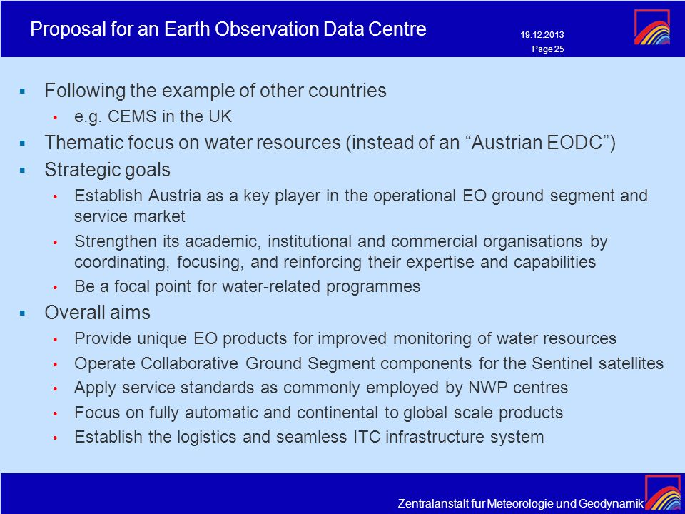 Proposal for an Earth Observation Data Centre