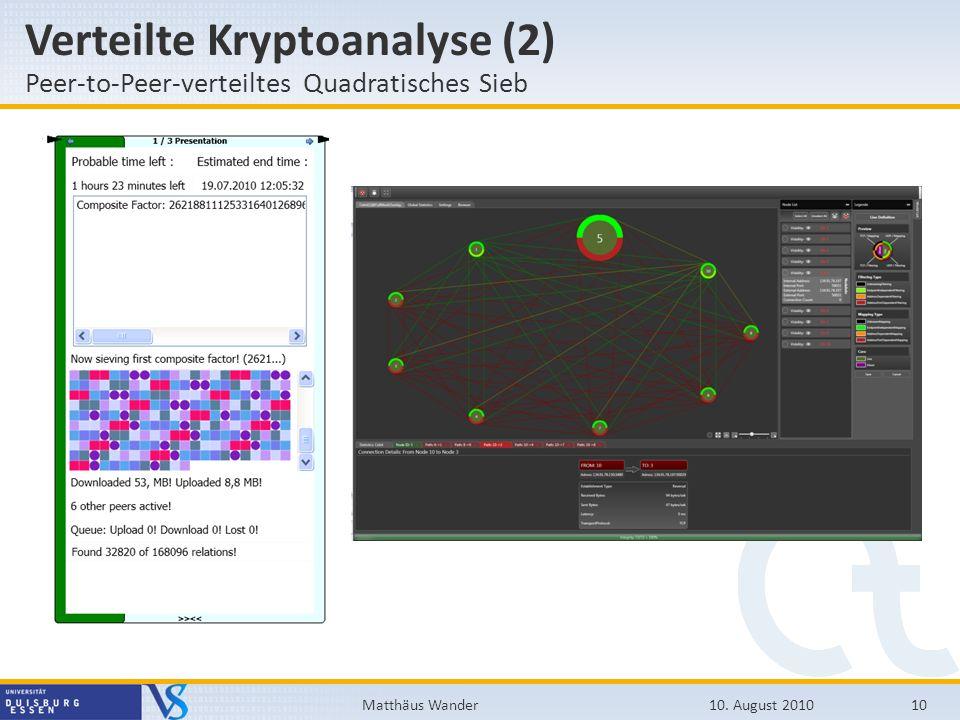 Verteilte Kryptoanalyse (2)