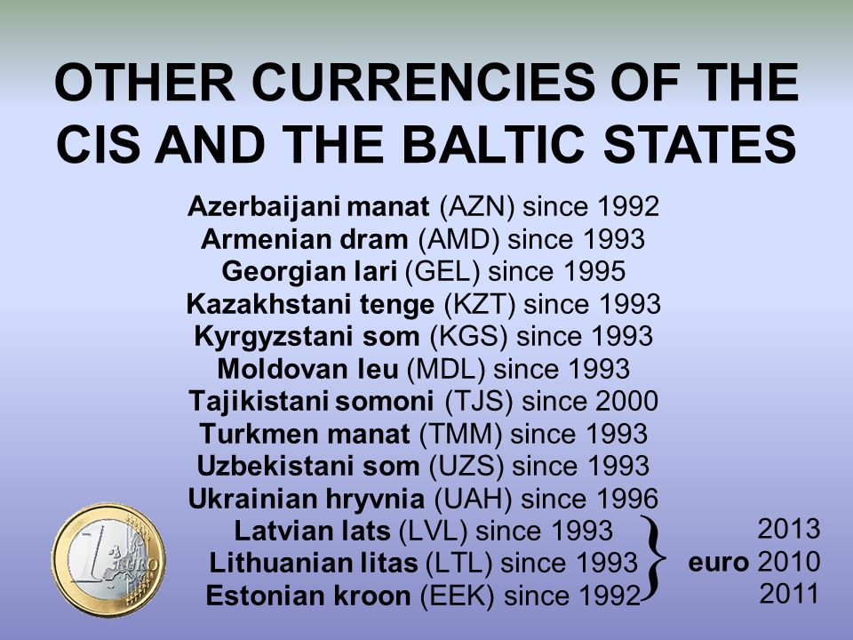 OTHER CURRENCIES OF THE CIS AND THE BALTIC STATES