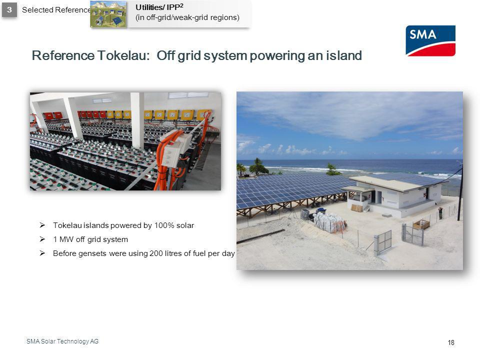 Reference Tokelau: Off grid system powering an island