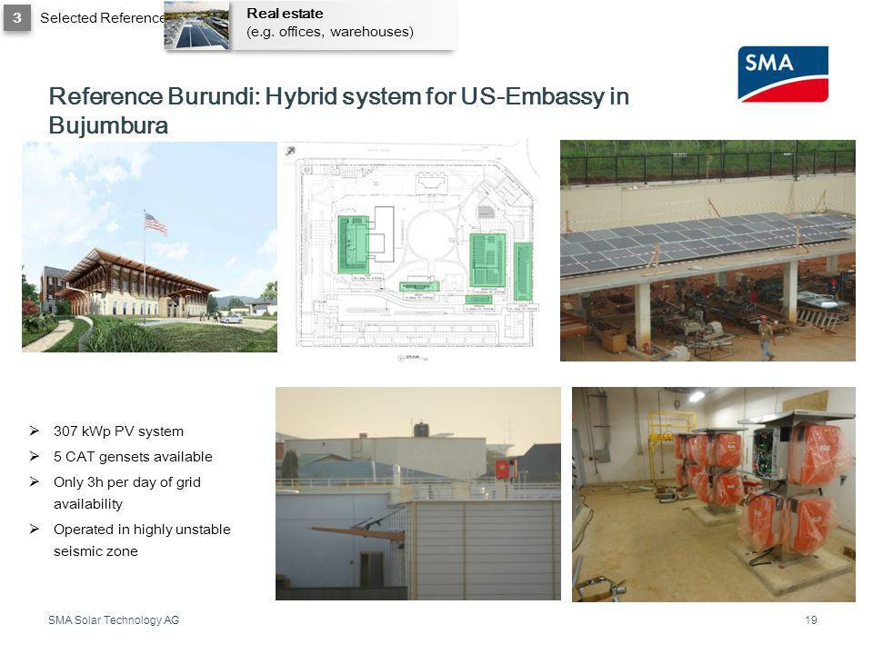 Reference Burundi: Hybrid system for US-Embassy in Bujumbura