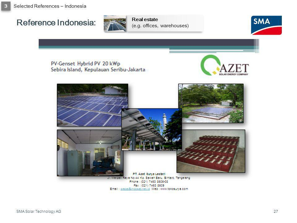 Reference Indonesia: 3 Selected References – Indonesia Real estate