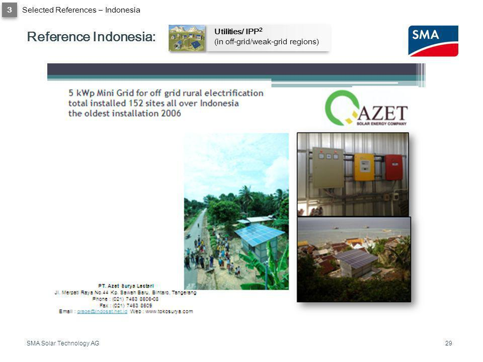 Reference Indonesia: 3 Selected References – Indonesia Utilities/ IPP2