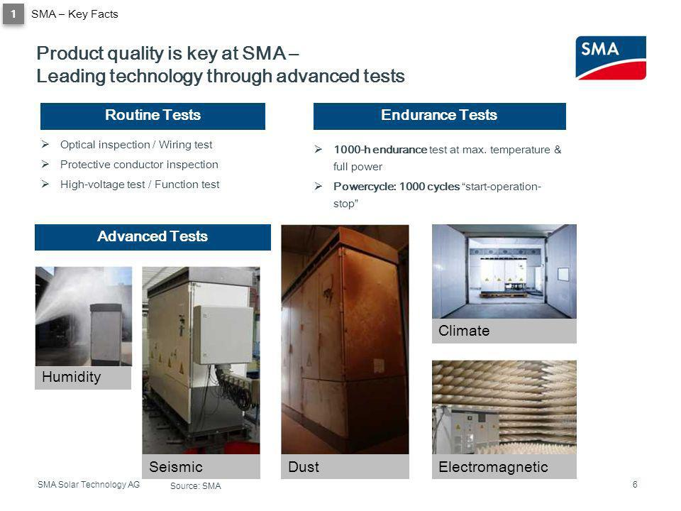 Product quality is key at SMA –
