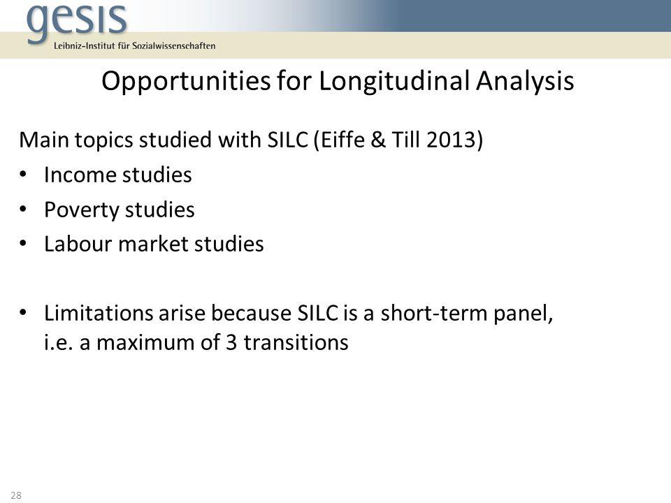 Opportunities for Longitudinal Analysis