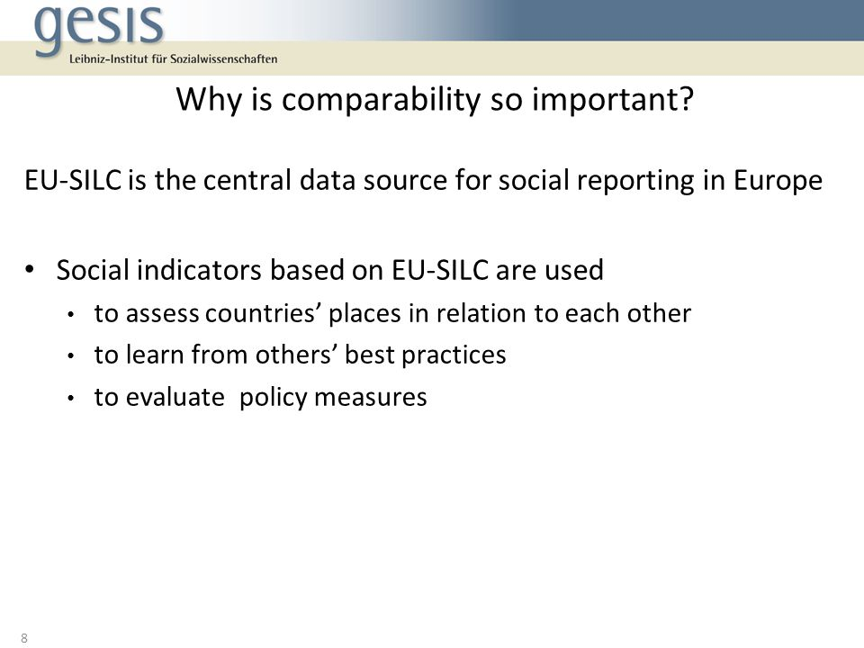 Why is comparability so important