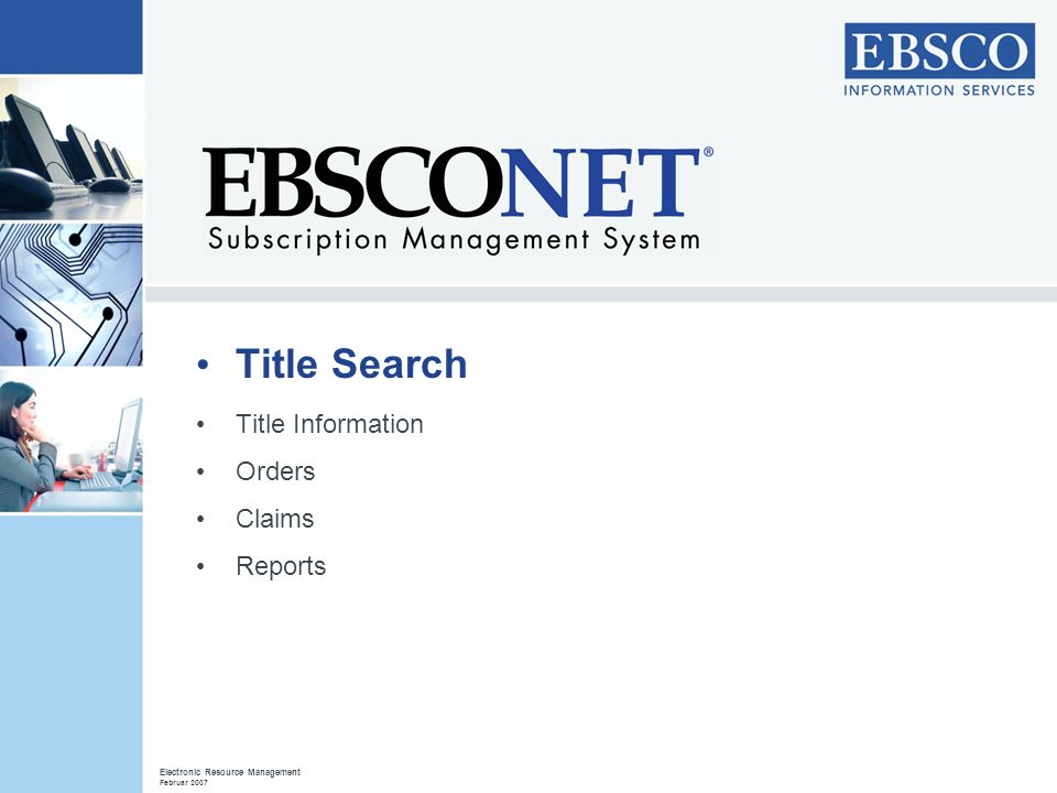 Title Search Title Information Orders Claims Reports