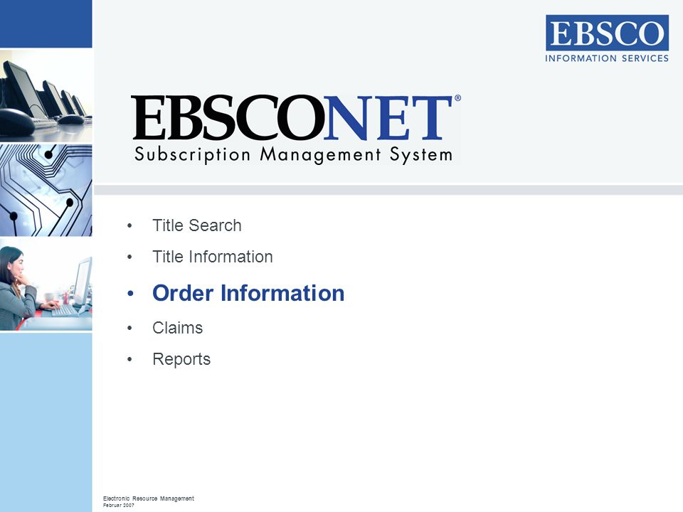 Order Information Title Search Title Information Claims Reports