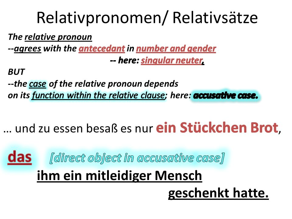 Relativpronomen/ Relativsätze