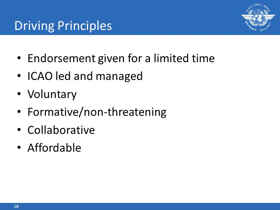 Driving Principles Endorsement given for a limited time