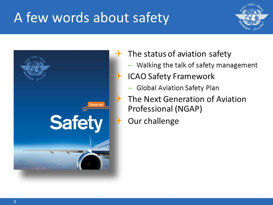 A few words about safety