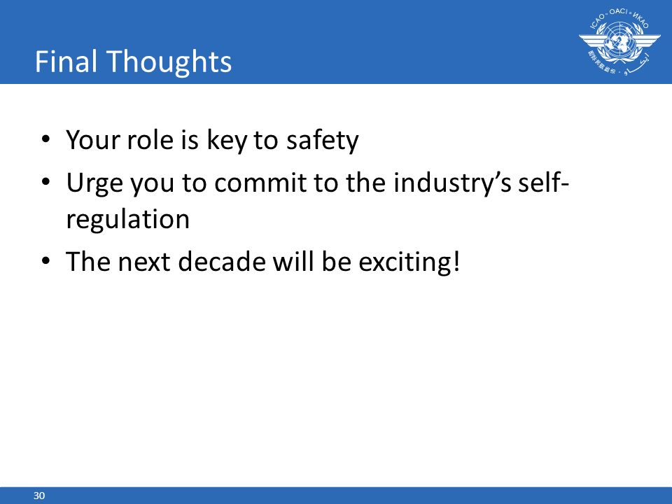 Final Thoughts Your role is key to safety